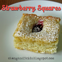 Strawberry Squares by Cheng and 3 Kids