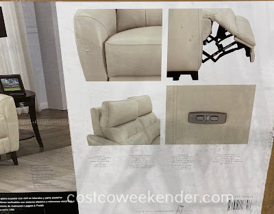 Leather Power Reclining Loveseat with Power Headrest: great for any home