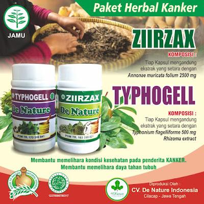 Ziirzax dan Typhogell De Nature Atasi Kanker