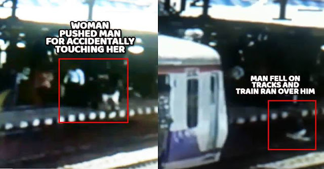 56-Yr Man Mistakenly Touched Woman, She Pushed Him In Front Of Running Train