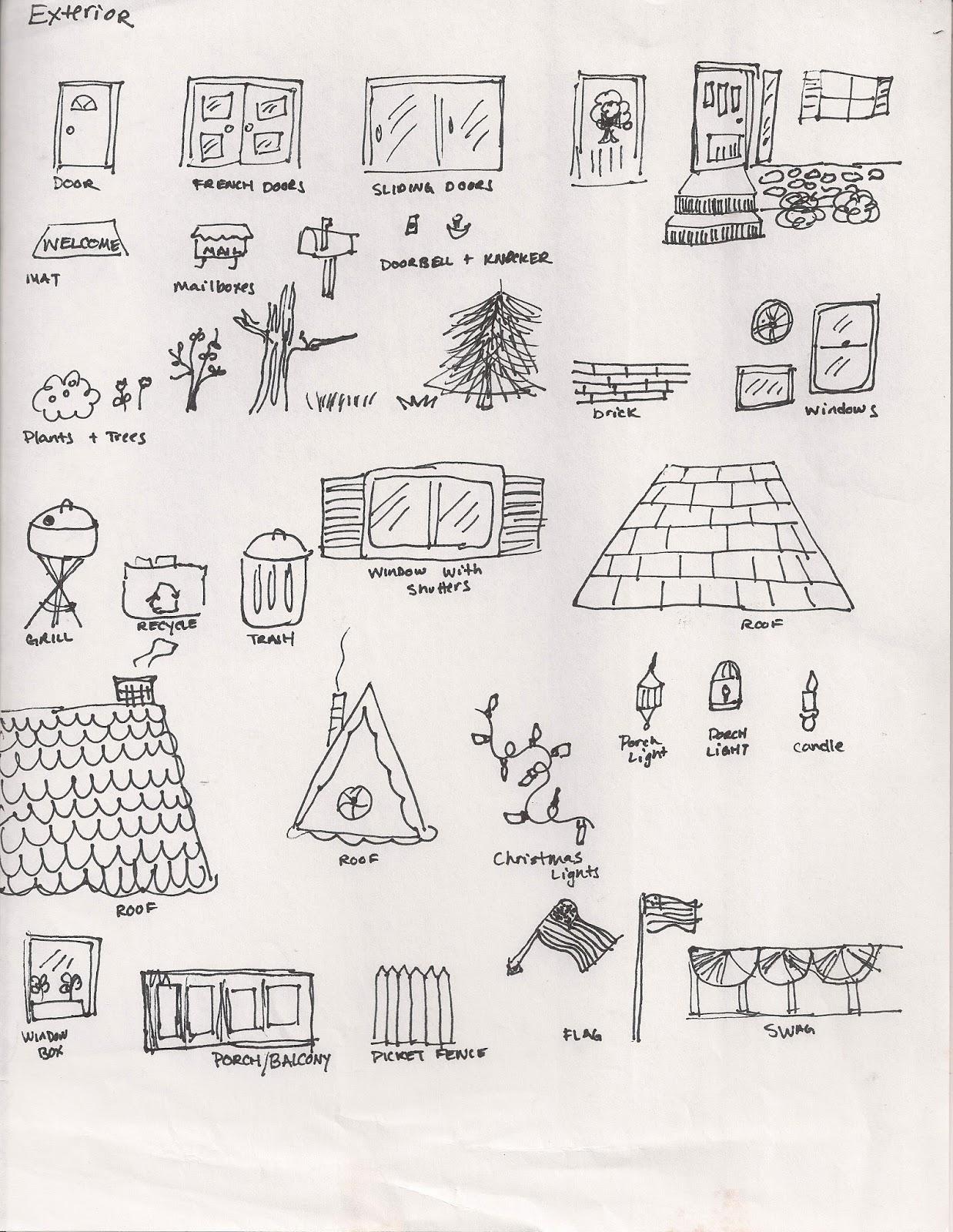No Corner Suns Exterior Of A House Brainstorming Handout
