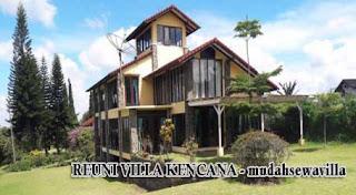 villa halaman luas di lembang untuk reuni