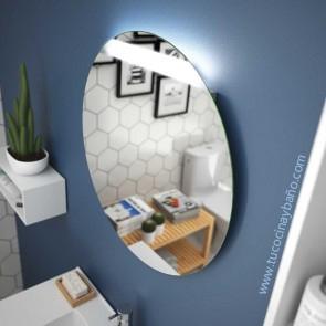 espejo redondo baño luz led circular