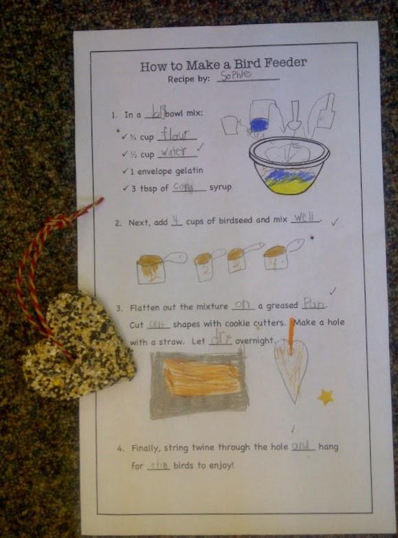 Mrs  Russo's Grade One Class: Bird Feeders