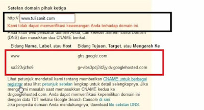 edit domain blogspot