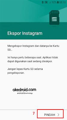 Ekspor Instagram di Android Nougat