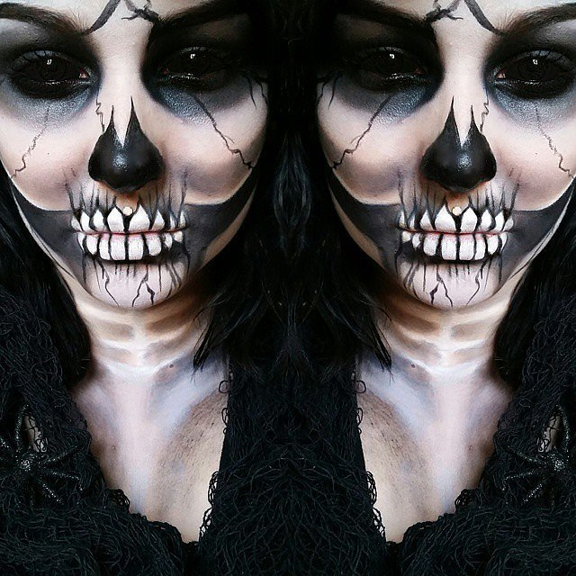 Burial Rider Halloween Makeup Idea