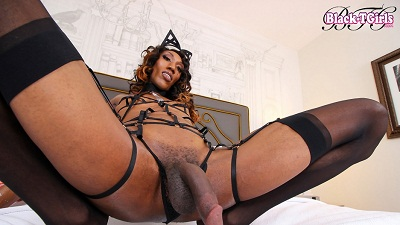 Black-TGirls – April in Horny April Jacks Off!