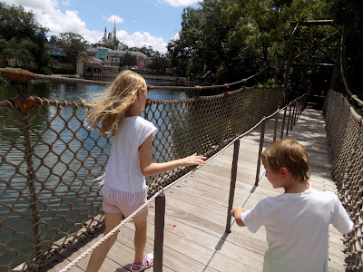 Over the bridge on Tom Sawyer Island