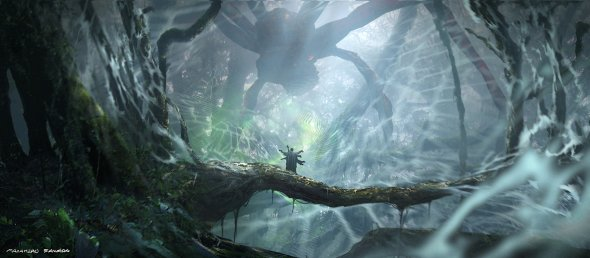 Masahiro Sawada artstation arte ilustrações sombrias cenários desolados fantasia ficção científica terror games
