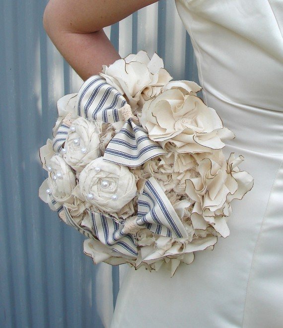 Cloud 9 Weddings & Papers: We're Crazy About: Fabric Bouquets