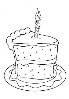 דפי צביעה יום הולדת עוגות