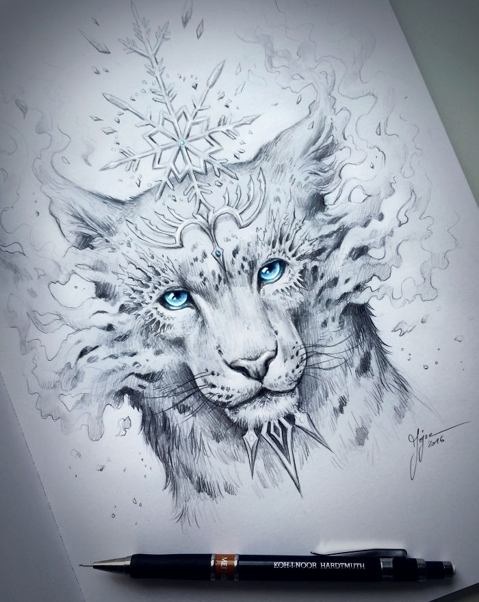 10-Snow-Leopard-Jonas-Jödicke-jojoesart-Fantasy-Animal-Drawings-with-Souls-of-Nature-www-designstack-co