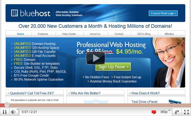 Bluehost $3.95 Discount Code