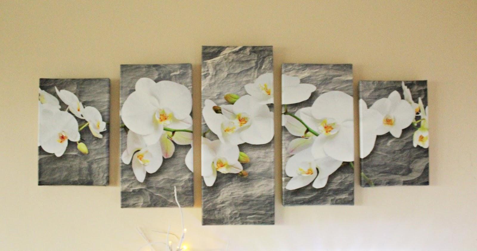 Orchidee na skale - obraz na ścianę