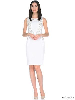Vestidos de graduacion en color blanco