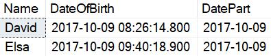 sql query same birth date