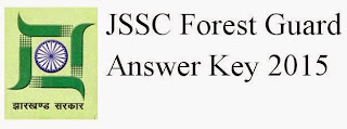 JSSC Forest Guard Answer Key 2015