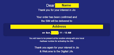 jio home delivery