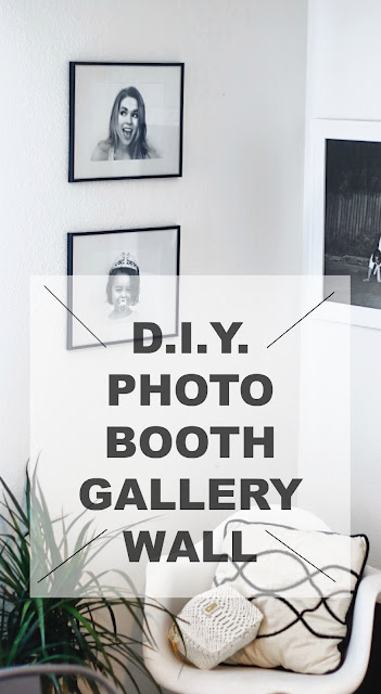 d.i.y. photo booth gallery wall art inexpensive free