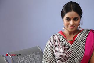 Actress Poorna Pictures in Red Salwar Kameez at Jayammu Nischayammu Raa Teaser Launch  0256.JPG
