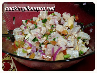 Making Kinilaw na Tanigue (Raw Fish recipe)