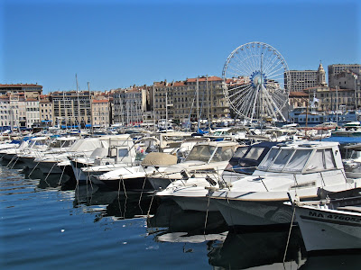 Ferris wheel in Vieux Port of Marseille