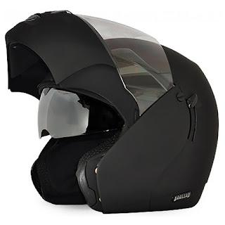 Vega Flip-out Boolean Dull Black Men's Full Face Helmet