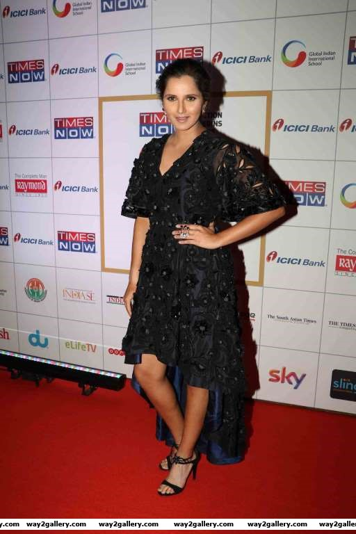 Sania Mirza arrives for the rd NRI of the Year Awards in Mumbai