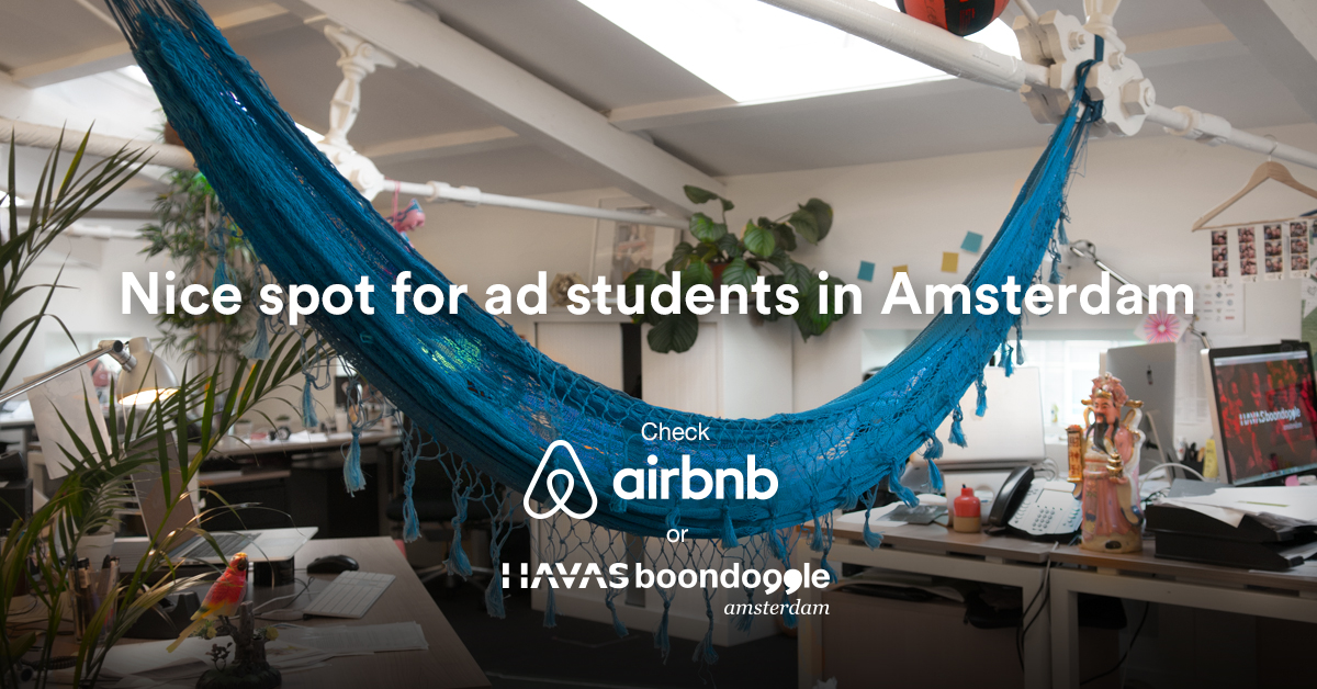 Havas Boondoggle Amsterdam uses Airbnb to recruit Ad Students