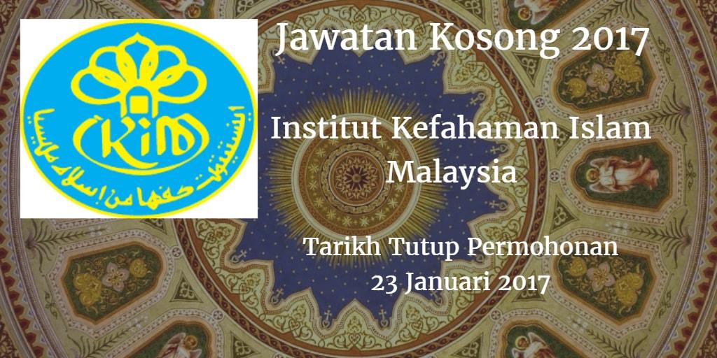 Jawatan Kosong IKIM 23 Januari 2017