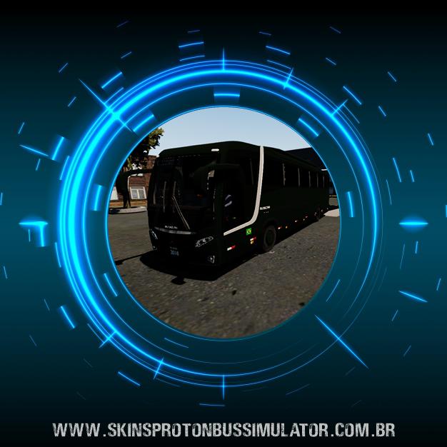 Skin Proton Bus Simulator Road - Busscar Vissta Buss MB O-500 RS BT5 Exército Brasileiro