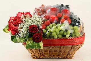 Rangkaian Parcel Bunga dan Buah Hari Raya Idul Fitri