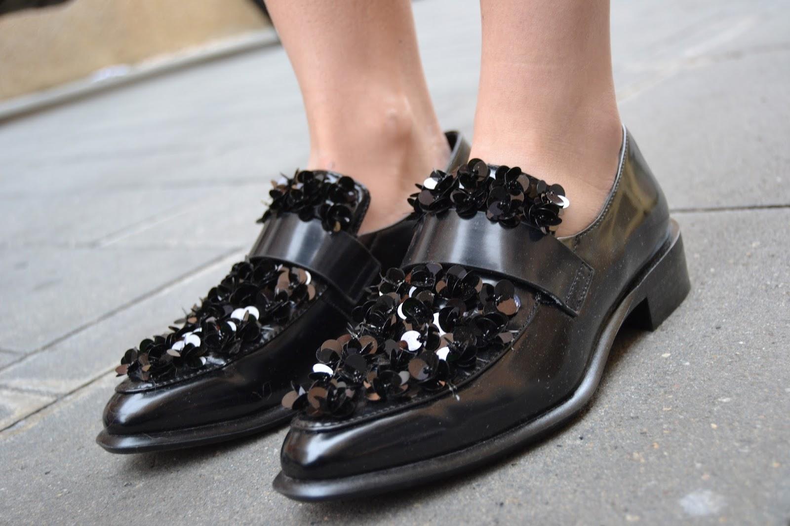 embellished loafers