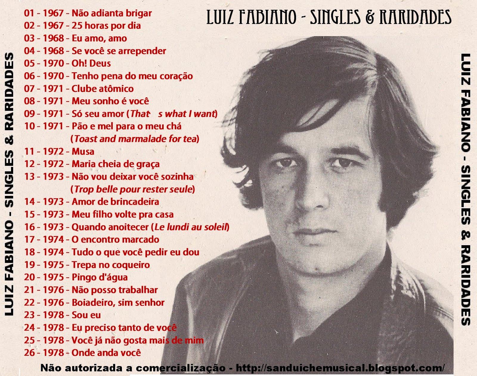 6b25d9238cc SanduícheMusical  Luiz Fabiano - Singles   Raridades (Coletânea)
