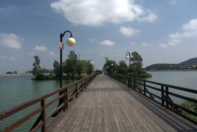 molo, wejście na jezioro Bielawskie