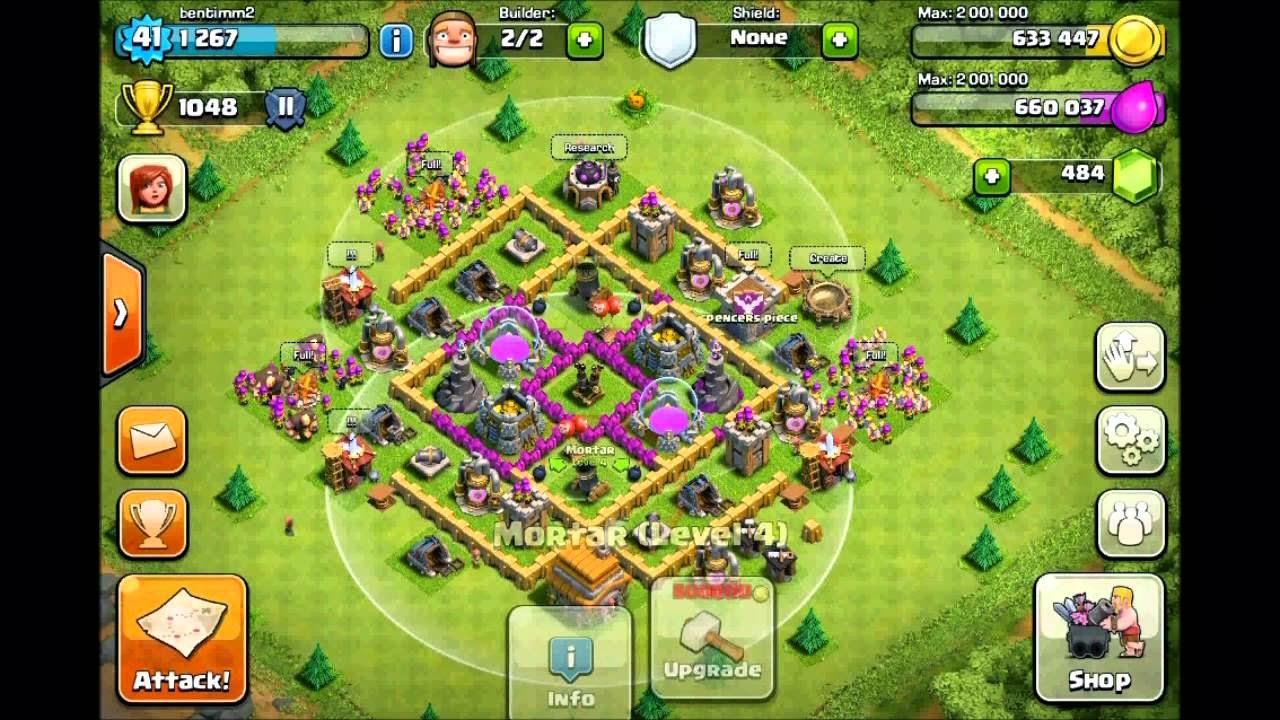 Clash Of Clans Base Pertahanan Terbaik Town Hall Level 6 Clash
