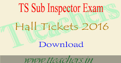 TS SI Exam hall tickets 2016 telangana si exam primary final key download