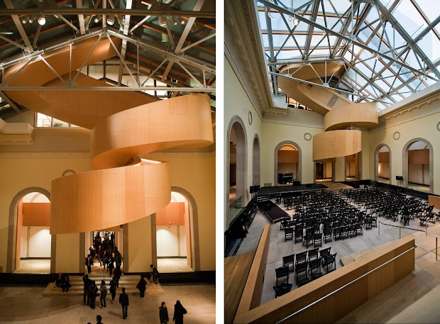 Interior of Frank Gehry Ontario Art Gallery