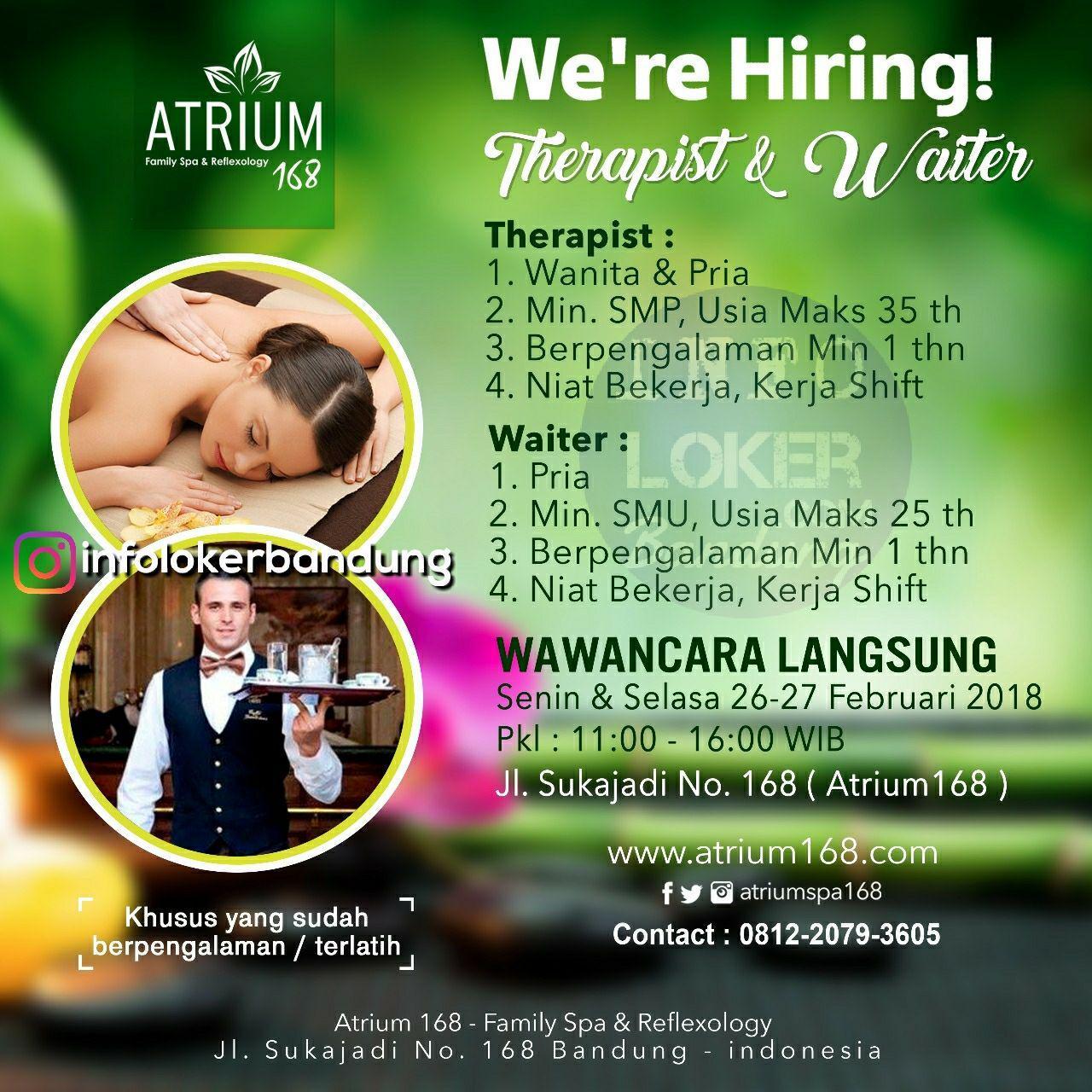 Walk In Interview Atrium 168 Bandung 26 -27 Februari 2018