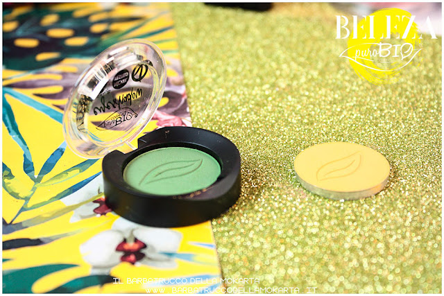 beleza purobio eyeshadow ombretti 17 verde prato 18 giallo indiano packaging recensione