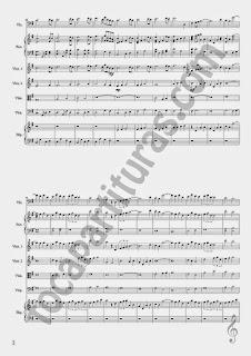 2 Lo Imposible Partitura del Score Completo Partituras melódicas y de acompañamiento para Pequeña Orquesta de Cuerdas y Piano (3 hojas) de Fernando Velázquez