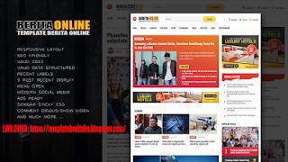 Template Portal Berita Online Blogger Premium