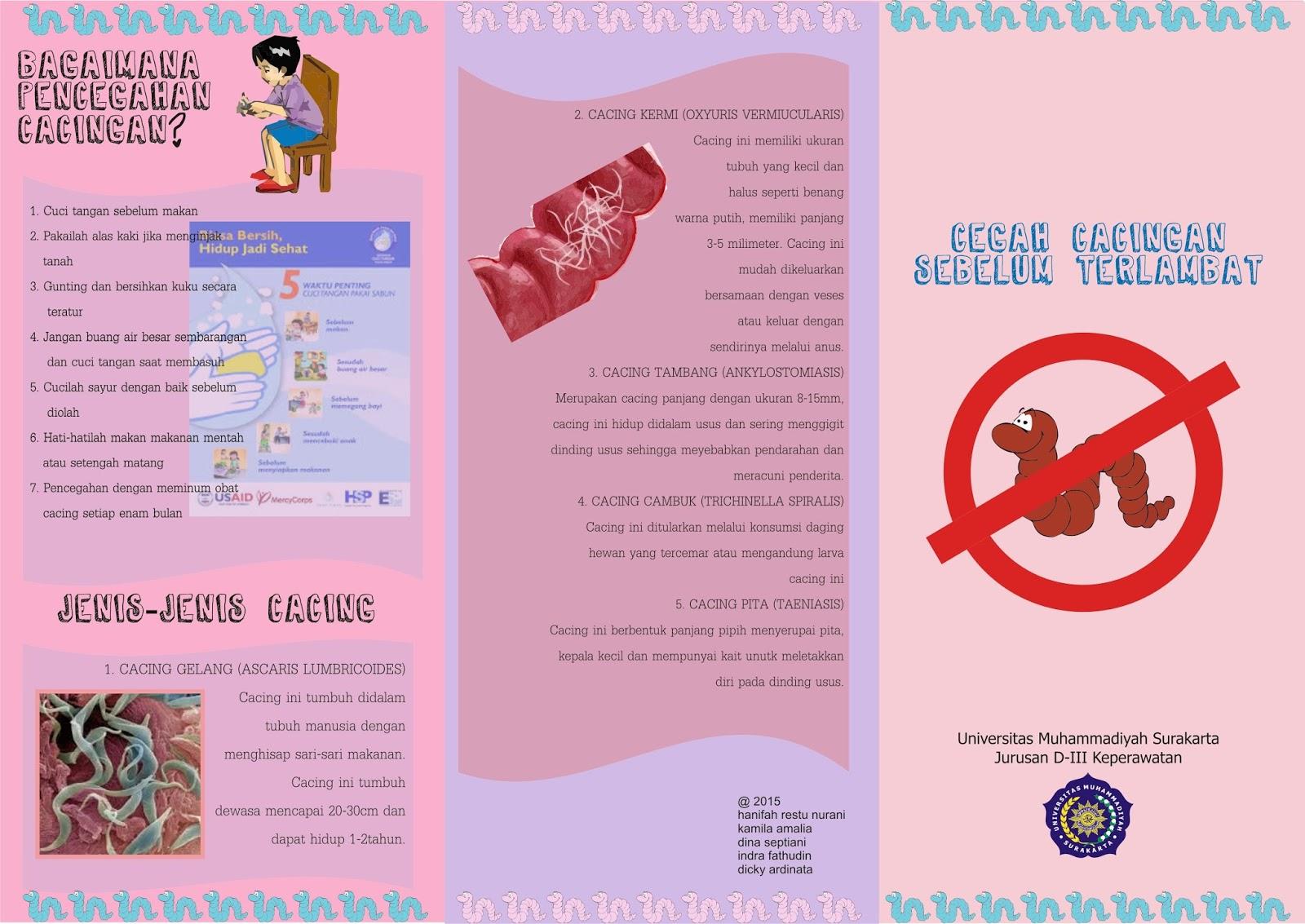 Leaflet Bahaya Cacing Catatan Kamila