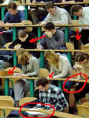Spicken im Unterricht witzig
