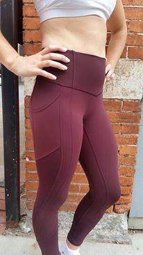 lululemon all-the-right-places crop bordeaux