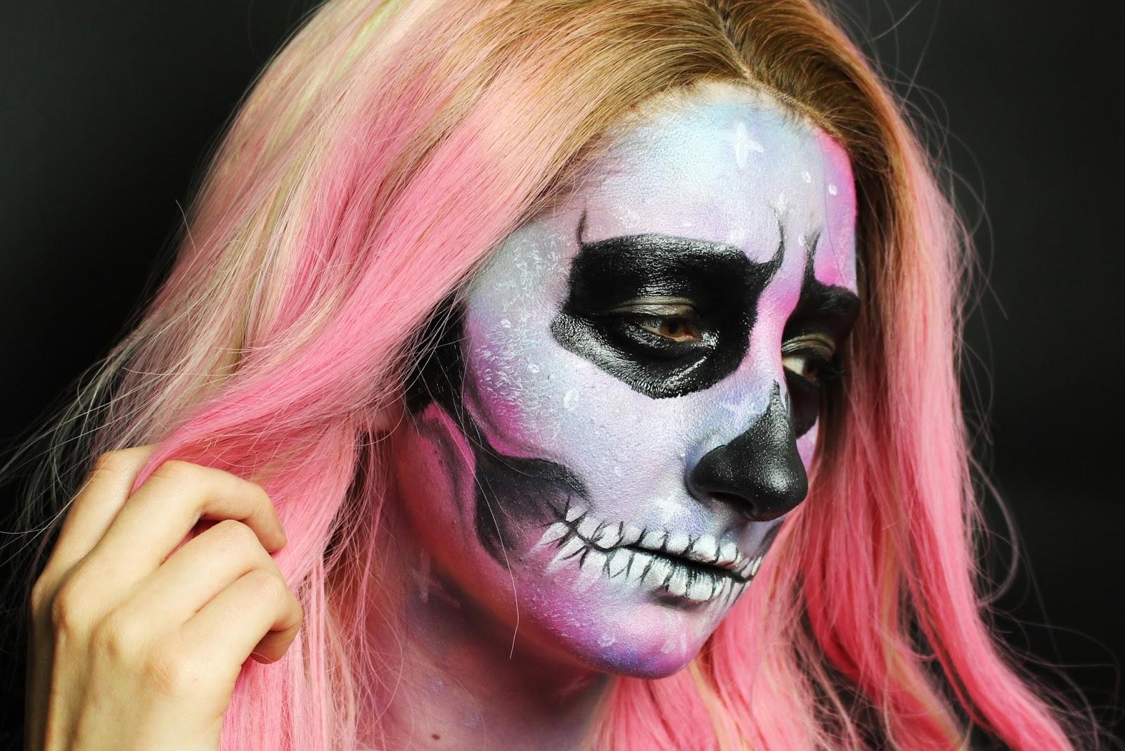 Sophie Jenner Galaxy Skull Halloween Tutorial Video