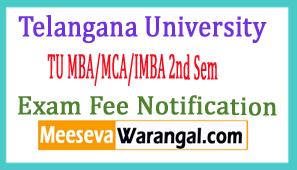 TU MBA/MCA/IMBA 2nd Sem Exam Fee Notification 2017 Telangana University