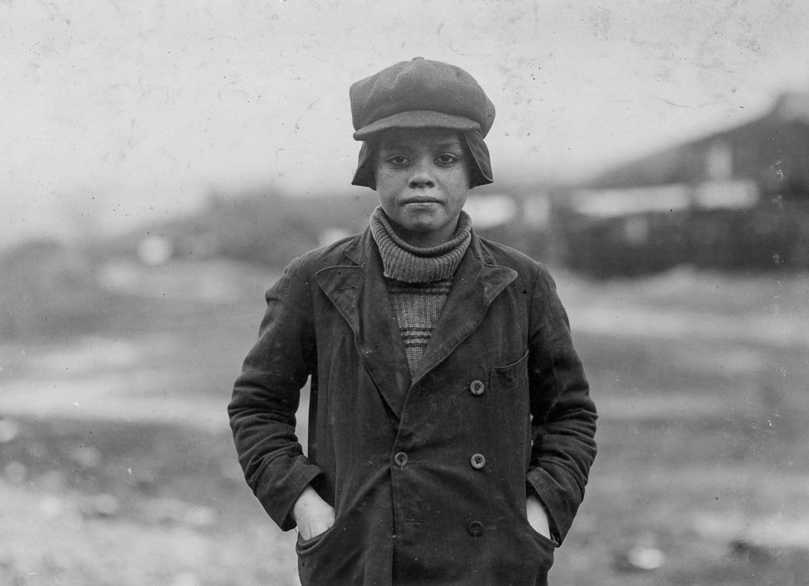 Mine worker Angelo Ross, who claims to be 13, but is likely younger. 1911.