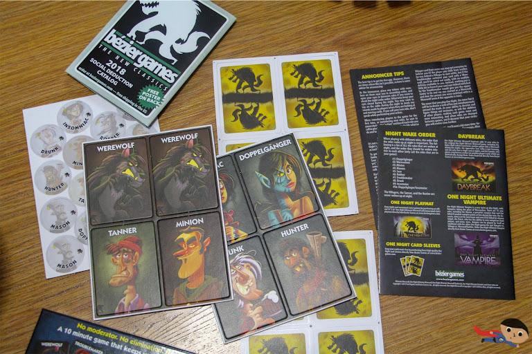 One Night Werewolf Board Game